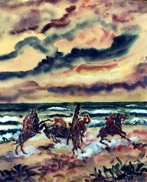 Reiter am Meer